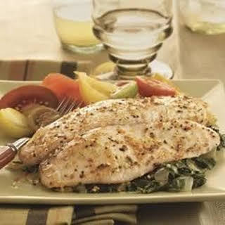 Baked Tilapia with Garlic and Herb Oil.