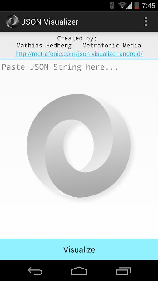 json visualizer screenshot