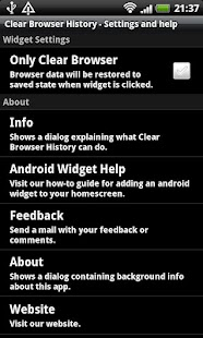 Clear Browser History Free - screenshot thumbnail