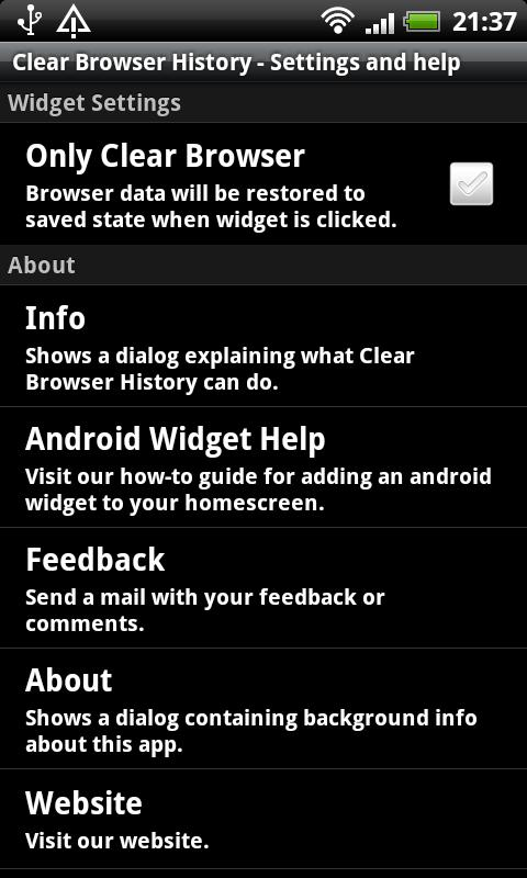 Clear Browser History Free - screenshot