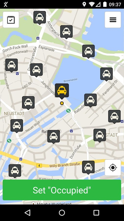 mytaxi Driver App- screenshot