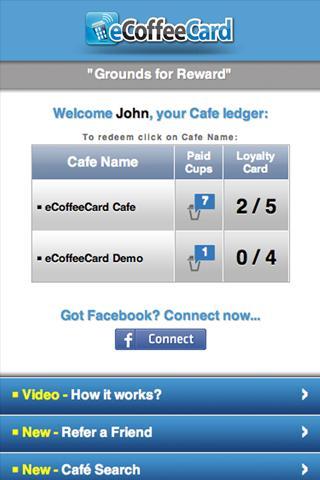 eCoffeeCard- screenshot
