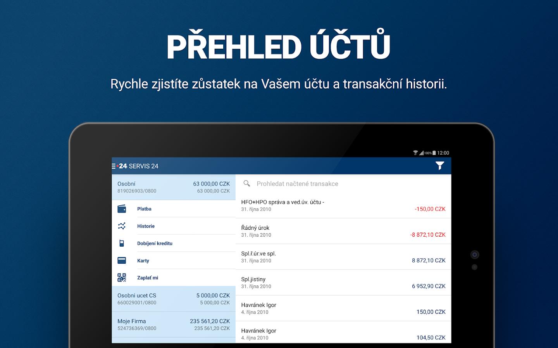 SERVIS 24 Mobilni banka- screenshot