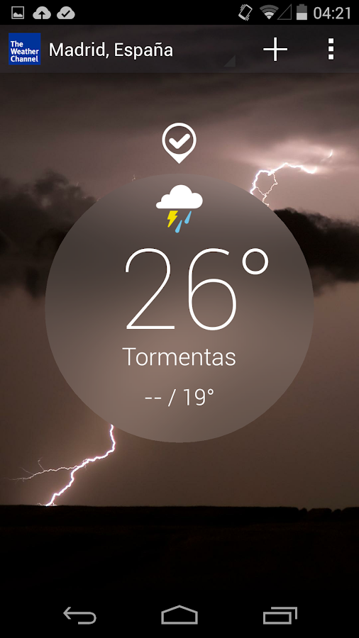 The Weather Channel: captura de pantalla