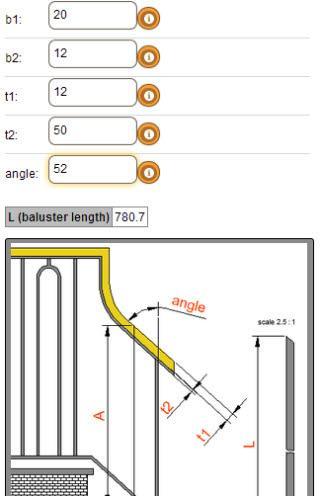 Balustrade Stair Calculator