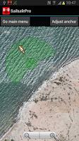 Screenshot of Sailsafe Pro. Anchor alarm.