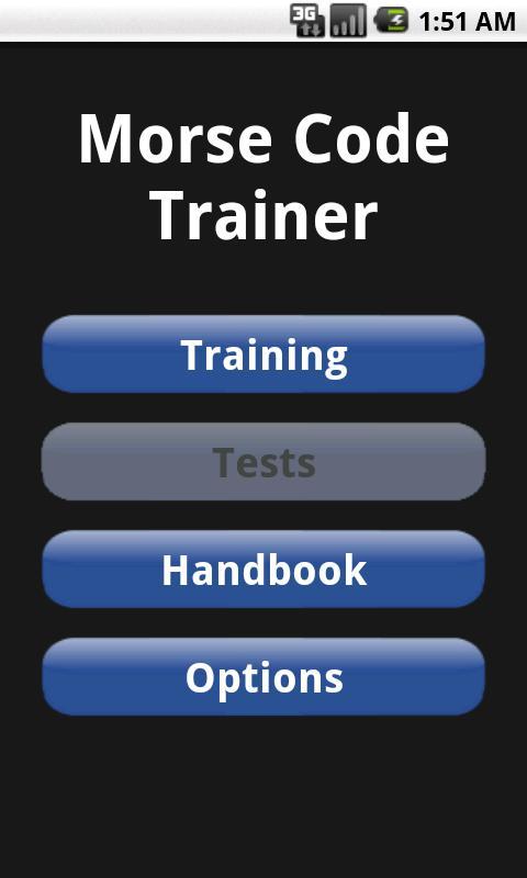 Morse Code Trainer- screenshot