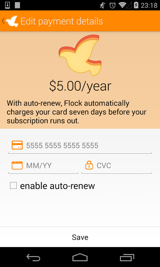 Flock - screenshot