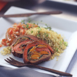 Spinach and Carrot Stuffed Flank Steak.