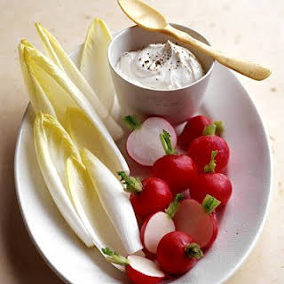 Crudites with Goat Cheese Dip.