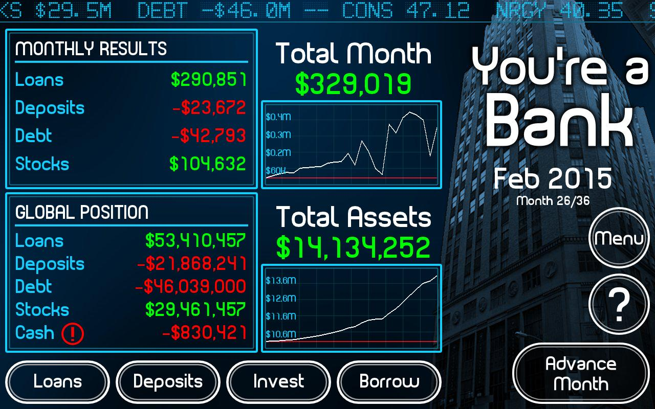 You're a Bank - screenshot