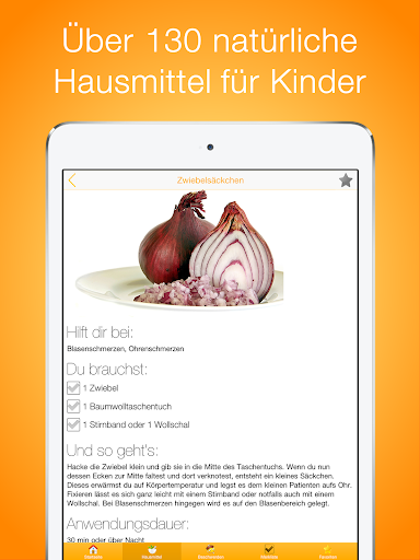 Hausmittel für Kinder PRO app for Android screenshot