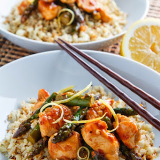 Honey Lemon Chicken and Asparagus Stir Fry