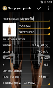 Sako Ballistics Calculator- screenshot thumbnail