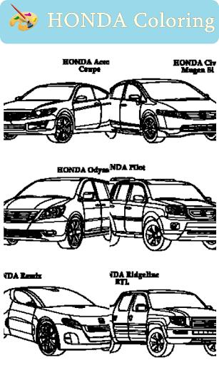 Honda Car Coloring