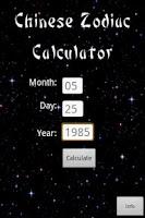 Screenshot of Free Chinese Zodiac Calc