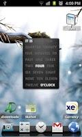 Screenshot of A text clock (widget)