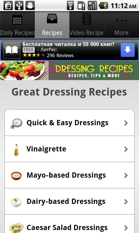 Dressing Recipes! - screenshot