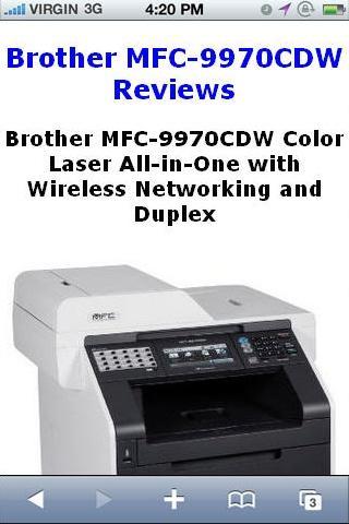 MFC9970CDW Color Laser Reviews