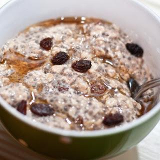 Oatmeal Raisin Cookie Vegan Overnight Oats