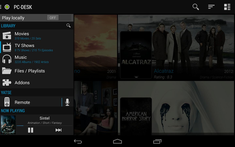 Yatse, the XBMC / Kodi Remote - screenshot