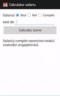 Calculator salariu- screenshot thumbnail
