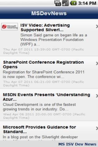 Microsoft Developer News - screenshot