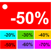 Sales Price Calculator Off Icon