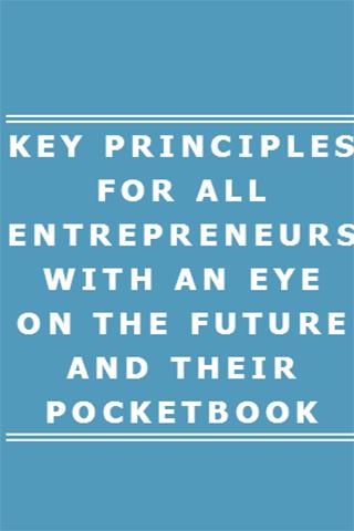 Key Principles Entrepreneurs