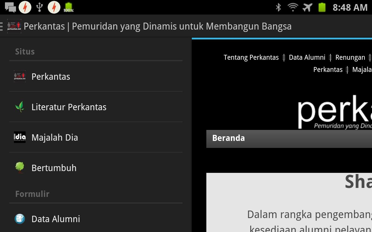 Perkantas- screenshot