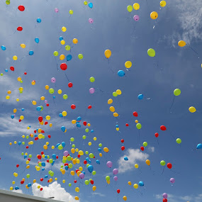 Together We Create Harmony by Manoj Ojha - Landscapes Weather ( #balloon #color #sky #tenbyinternationalschoolmiri #miri #sarawak #malaysia #harmony #togetherness )