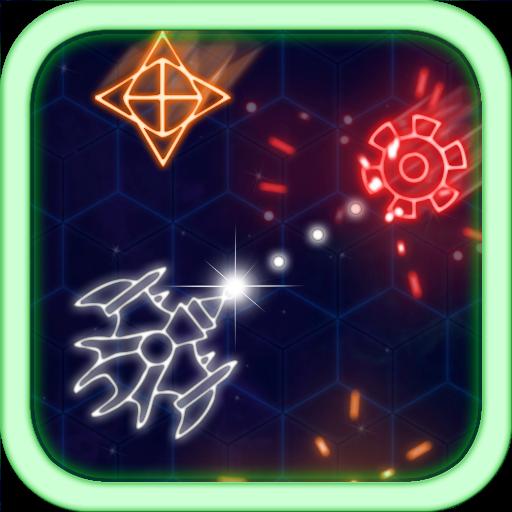 Neon Geo Wars 休閒 App LOGO-硬是要APP