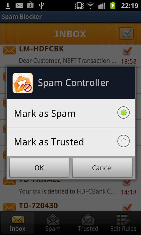 SMS Spam Blocker- screenshot