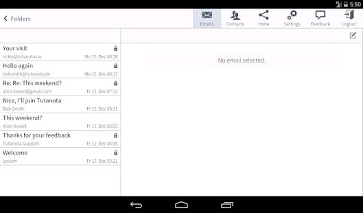 Tutanota: simply secure emails Screenshot 10