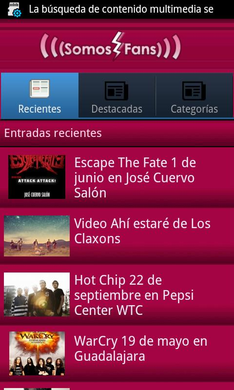 Somos Fans app - screenshot