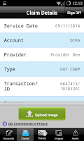 Screenshot of My Reimbursement Benefits