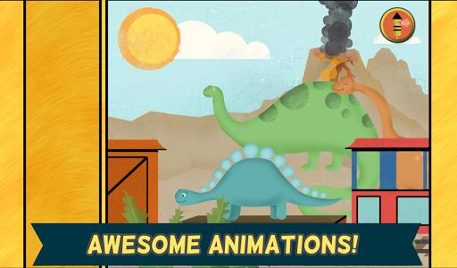 玩教育App 孩子們的恐龍遊戲:幼稚園的可愛恐龍火車拼圖遊戲 - 教育 版免費 APP試玩
