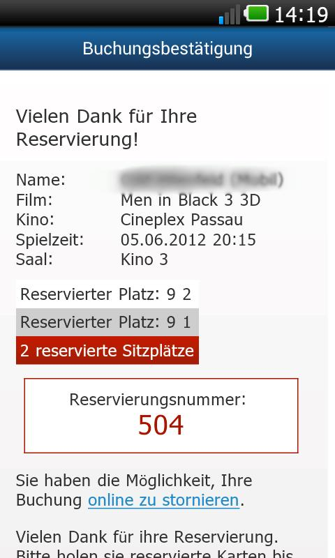 CINEPLEX Kinoprogramm - screenshot