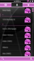 Screenshot of Gloss Pink CM11/AOKP Theme