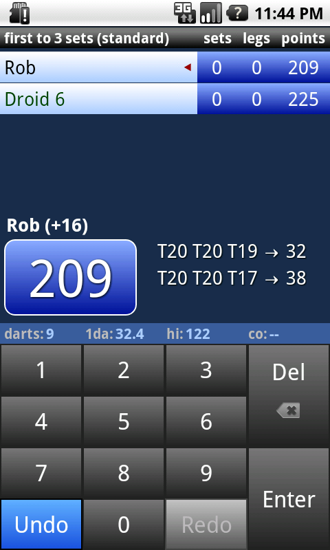 Darts Scoreboard - screenshot