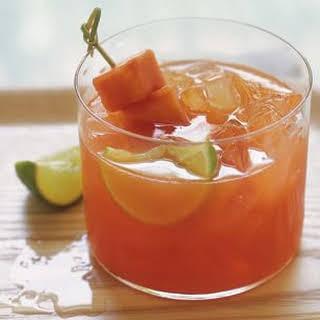 Papaya and Lime Agua Fresca.