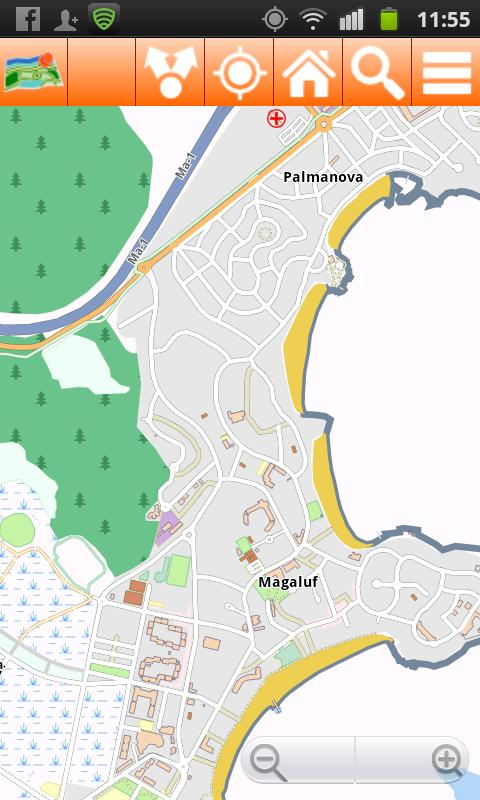 Mallorca Offline mappa Map - screenshot