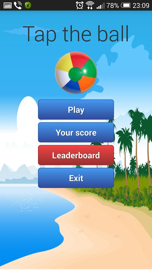 Tap the ball - screenshot