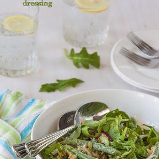 Green Bean Salad With Yoghurt Miso Dressing