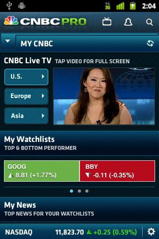 CNBC PRO for Phones - screenshot