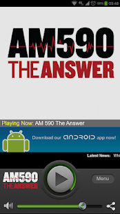 AM 590 The Answer - screenshot thumbnail
