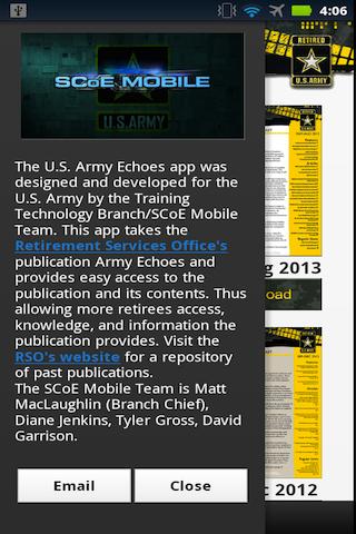 U.S. Army Echoes- screenshot