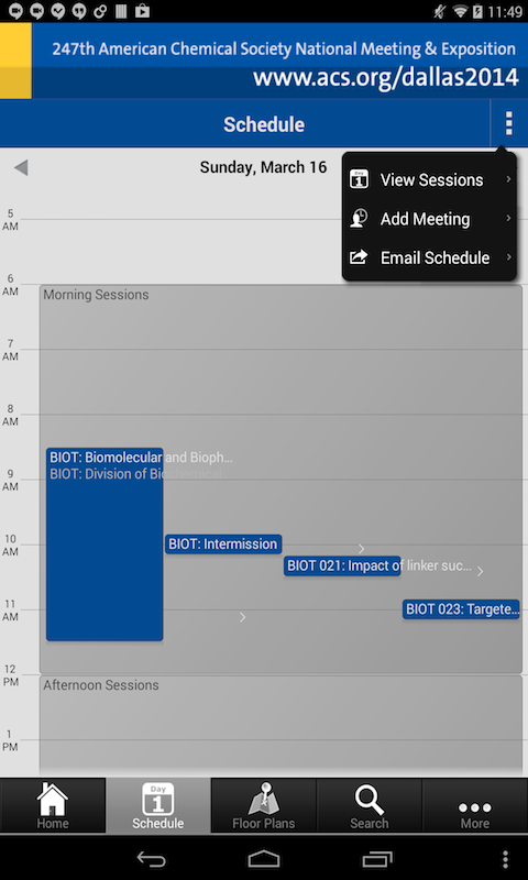 ACS Meeting Spring 2014 - screenshot