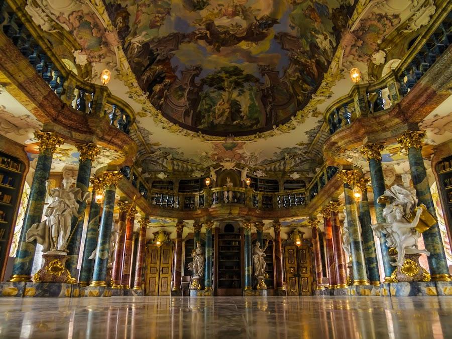 Beautiful library by Linda Sanchez-Greissel - Buildings & Architecture Public & Historical ( monks library, library, architecture, golden library )
