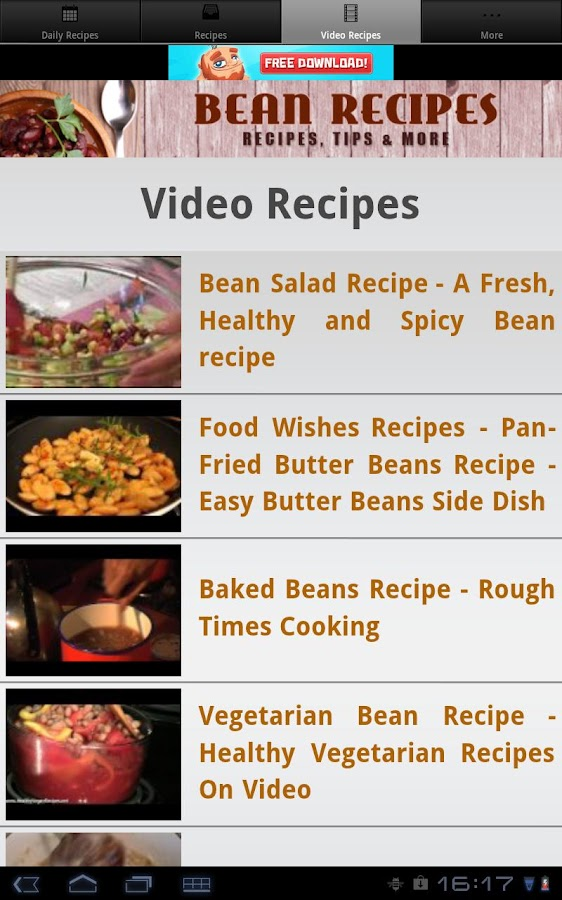 Bean Recipes!- screenshot